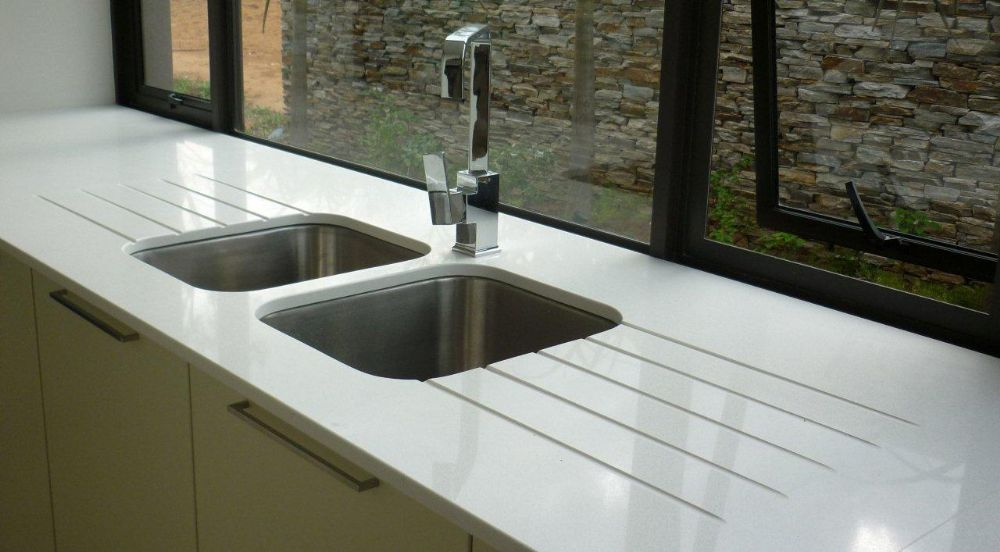 Basin options granite marble caesarstone afrigran durban - Caesarstone sink kitchen ...